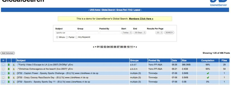 Usenet Global Search